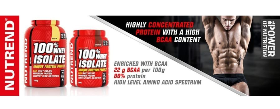 Nutrend whey isolate protein tozu