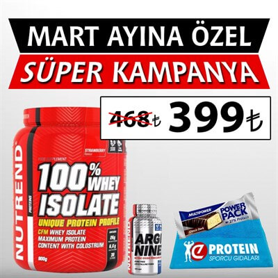 Nutrend Whey Isolate 1800 Gr Ve Arginine 120 Kapsül