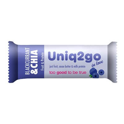 Uniq2go In Love Frenk Üzümlü Ve Chialı Protein Bar 1 Adet