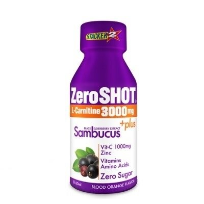 Zeroshot L-Carnitine Plus Sambucus 3000 mg 60 ml 1 Ampul