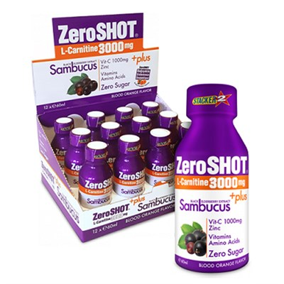 Zero Shot 60 ML 3000Mg L-Carnitine + Plus Sambucus 60 ML 12li Paket