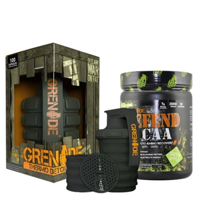 Grenade Thermo Detonator 100 Kapsül Ve Defend Bcaa 390 gr