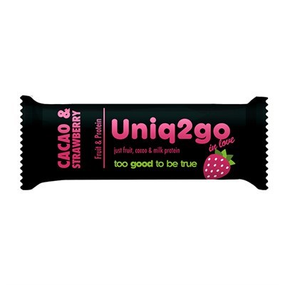 Uniq2go In Love Kakaolu Ve Çilek Protein Bar 1 Adet